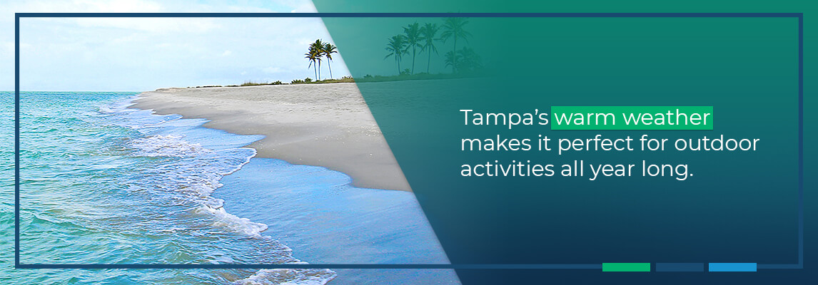 Tampa's warm weather makes it perfect for outdoor activities all year long.