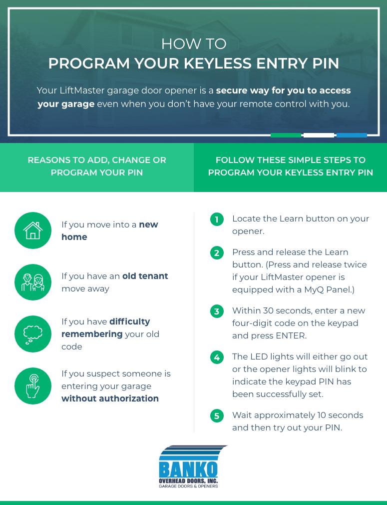 How to Program LiftMaster® Keyless Entry PIN Micrographic