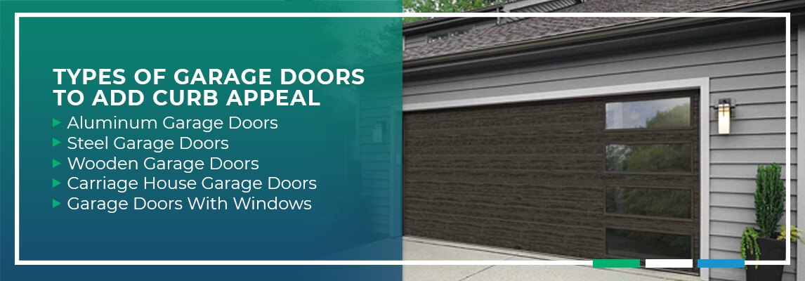 Types of Garage Doors to Add Curb Appeal