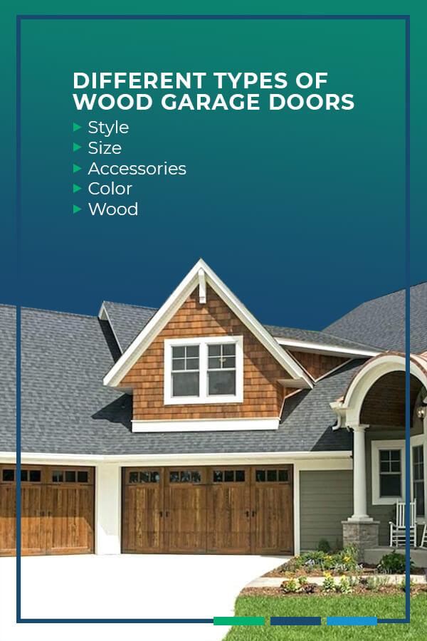 Different types of wood garage doors